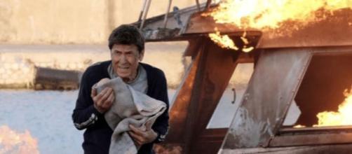 Gianni Morandi ne L'Isola di Pietro, seguitissima fiction di Canale 5