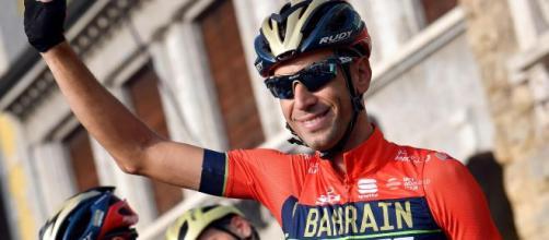 Vincenzo Nibali al via al Giro di Lombardia