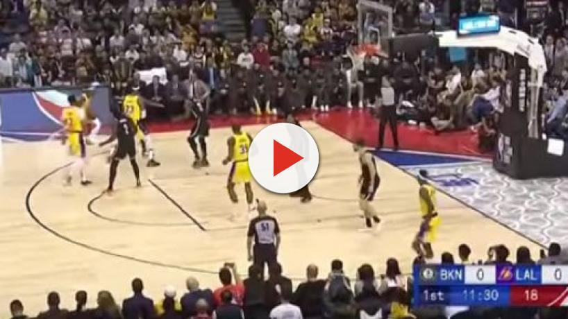 NBA China Games: Nets vs Lakers 114-111, injury for Irvine, Dwight Howard loses pants