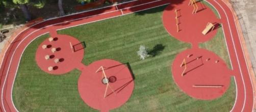 Vista aerea del 'Parco dei Suoni'