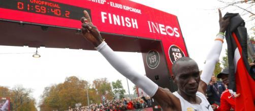 Eliud Kipchoge, campione olimpico e detentore del record sulla Maratona