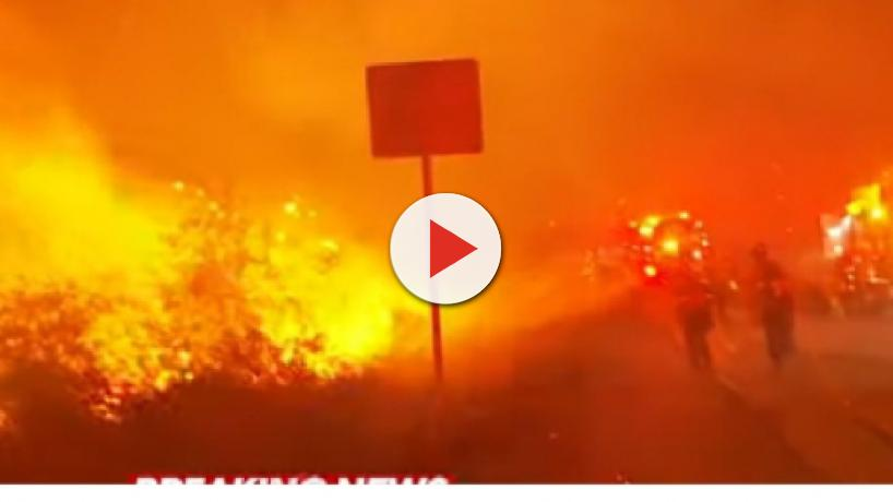 Wildfire devastates parts of northern California, thousands evacuated