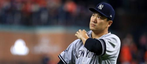 Tanaka no dejó caer mucho a la ofensiva de los Astros. www.sportingnews.com