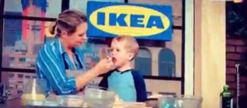 """Dylan Dreyer of """"Today"""" had help from her son, Calvin, at the New York Wine & Food Festival. [Image source: TODAY-YouTube]"""