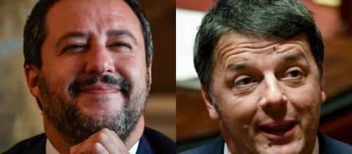 Matteo Salvini e Matteo Renzi.