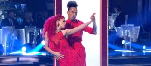 On 'Strictly Come Dancing,' Dianne's promise to Dev is broken. [Image Source: BBC Strictly Come Dancing/YouTube]
