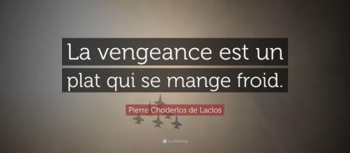 """Pierre Choderlos de Laclos Quote: """"La vengeance est un plat qui se ... - quotefancy.com"""