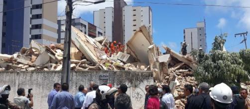 Prédio residencial de 7 andares desaba em Fortaleza. (Arquivo Blasting News)