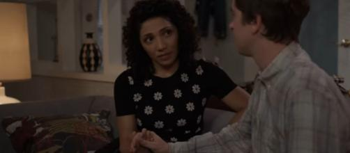 """Shaun and Carly don't have success in their first try at holding hands on """"The Good Doctor."""" [Image source-ABC-YouTube]"""