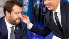 Porta a Porta, Salvini mostra cartello a Renzi: 'Sbarchi di migranti triplicati'