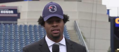 Harry was selected 32nd overall by the Patriots in the 2019 NFL Draft (Image Credit: New England Patriots/YouTube)