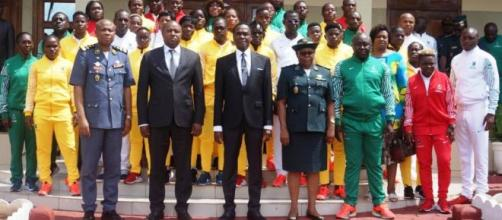 La délégation des Forces armées et de police en compagnie du Mindef (c) Mindef