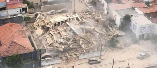 Prédio residencial de sete andares desabou em Fortaleza. (Arquivo Blasting News)