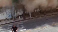 Vídeo mostra momento em que prédio desaba em Fortaleza