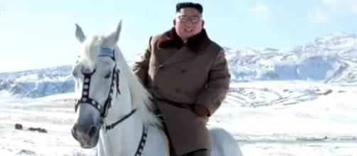 North Korea's Kim rides white stallion ahead of 'great operation.' [Image source/The Star Online YouTube video]
