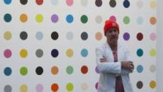 The many faces of Damien Hirst peer out from his new London exhibit