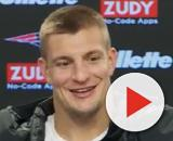 Gronkowski now works as NFL analyst for Fox Sports. [Image Source: New England Patriots/YouTube]