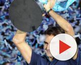 Roger Federer in occasione della sua sesta affermazione alle Atp Finals nel 2011