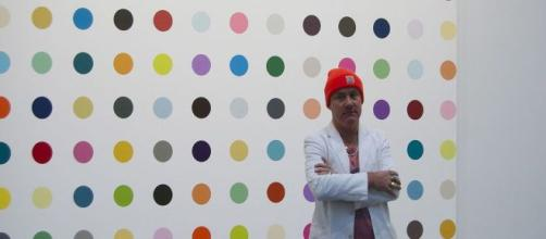 Damien Hirst's Spot painting [Image source: Creative Commons Attribution-Share Alike 2.0 Generic license].