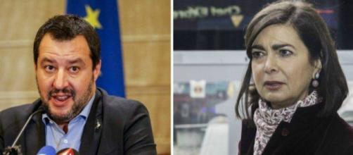 Nuove accuse di Laura Boldrini a Matteo Salvini