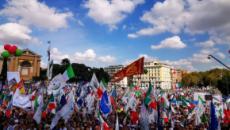 Il centrodestra italiano oggi, sabato 19 ottobre, è in piazza a Roma contro il governo