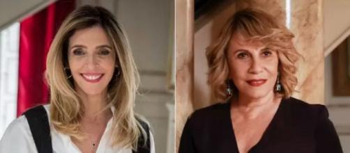 Renata Sorrah e Deborah Evelyn são tia e sobrinha. (Fotomontagem/ Reprodução/ TV Globo)