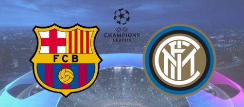 Barcelona x Inter terá transmissão ao vivo na internet. (Fotomontagem)