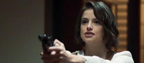 """Josiane em cena de fúria na novela """"A Dona do Pedaço"""", da Rede Globo. (Reprodução/TV Globo)"""