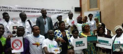 Le regroupement des différentes ONG mobilisées à la Fondation Muna le 2 octobre 2019 (c) Annette Olinga