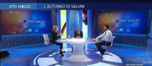 Otto e Mezzo, nuovo scontro tra Lilli Gruber e Matteo Salvini