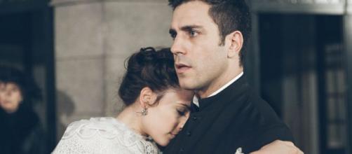Una Vita anticipazioni: Telmo e Lucia sorpresi a letto inseme dal priore Espineira