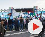 Militanti del centrodestra in Piazza San Giovanni a Roma