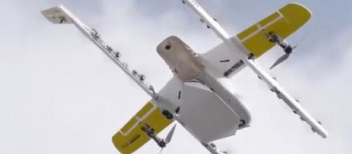 Drone delivery service 'Wing' launches service in Virginia. [Image source/Latest News YouTube video]
