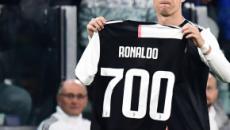 La Juventus batte allo Stadium Allianz il Bologna per 2-1, Ronaldo festeggia i 700 gol