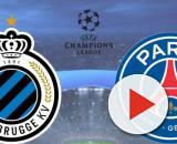 Brugge x PSG: transmissão ao vivo na TV Fechada. (Fotomontagem)