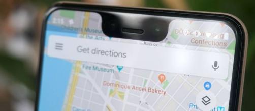 Il layout di Google Maps su iPhone