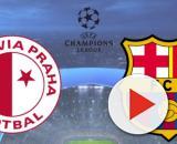 Slavia Praga x Barcelona terá transmissão ao vivo e exclusiva na internet. (Fotomontagem)