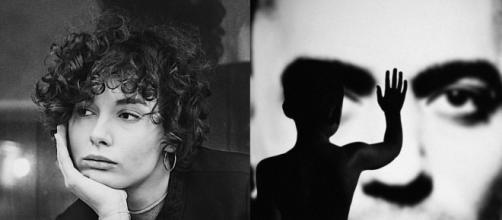 Madame a sinistra, la cover di 'Persona', nuovo album di Marracash, a destra