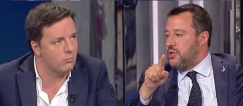Matteo Renzi e Matteo Salvini, tra i due spesso toni ruvidi.