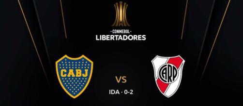 River venceu o primeiro jogo por 2 a 0. (Reprodução/Twitter/@LibertadoresBR)