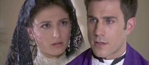Una Vita, puntate 23 e 24 ottobre: Padre Telmo racconta ai giornali la verità su Lucia