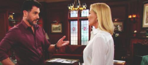 Beautiful anticipazioni Usa: Brooke confessa a Bill di aver spinto Thomas giù dalla scogliera