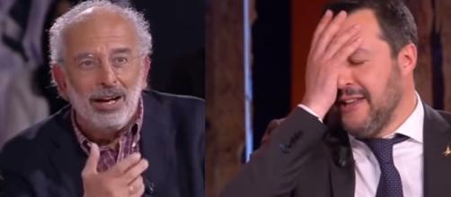 Gad Lerner e Matteo Salvini, due personalità agli antipodi.