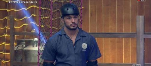 Lucas Viana é o novo fazendeiro de 'A Fazenda'. (Reprodução/RecordTV)