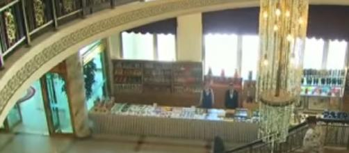 Closer look at family reunion venue -- the Mount Kumgang resort. [Image source/ARIRANG NEWS YouTube video]