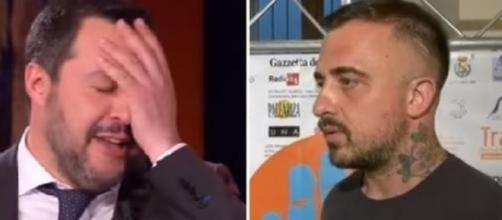 Il leader della Lega Matteo Salvini e Chef Rubio.