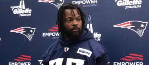 Michael Bennett finished his short New England stint with 2.5 sacks (Image Credit: CLNS Media/YouTube)