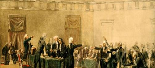 Signing of Declaration of Independence by Armand Dumaresq [(Image Source: wikipedia commons)