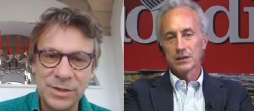 Nicola Porro e Marco Travaglio.