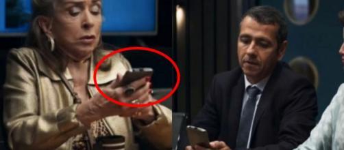 Celular de cabeça pra baixo e merchan no ar: gafes marcam 'A Dona do Pedaço'. (Reprodução/TV Globo)